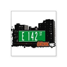 "E 142 St Square Sticker 3"" x 3"""