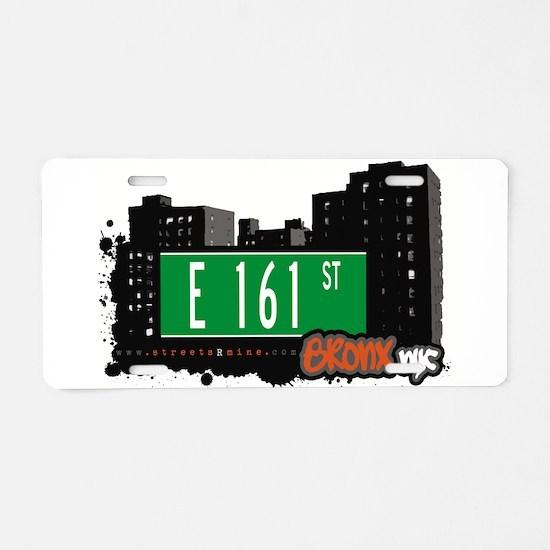 E 161 St Aluminum License Plate