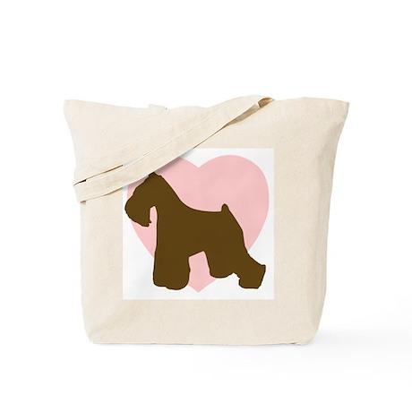 Miniature Schnauzer Heart Tote Bag