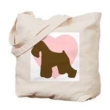 Miniature Schnauzer Heart Tote Bag