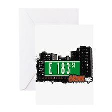 E 183 St Greeting Card