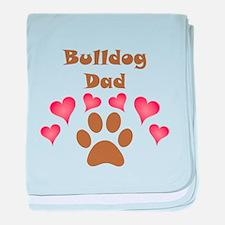 Bulldog Dad baby blanket