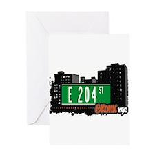 E 204 St Greeting Card