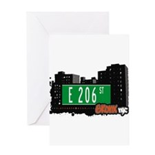 E 206 St Greeting Card
