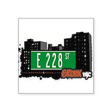 """E 228 ST Square Sticker 3"""" x 3"""""""