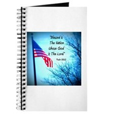 Bless Is The Nation Flag Journal