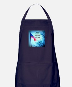 Bless Is The Nation Flag Apron (dark)