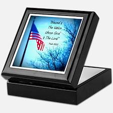 Bless Is The Nation Flag Keepsake Box