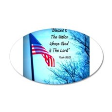 Bless Is The Nation Flag Wall Decal