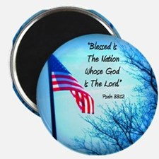 "Bless Is The Nation Flag 2.25"" Magnet (100 pack)"