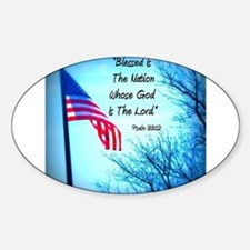 Bless Is The Nation Flag Decal