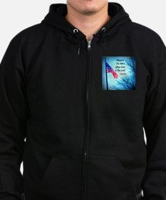 Bless Is The Nation Flag Zip Hoodie