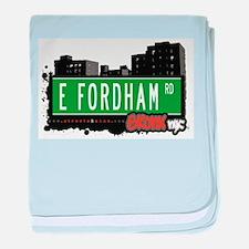 E Fordham Rd baby blanket