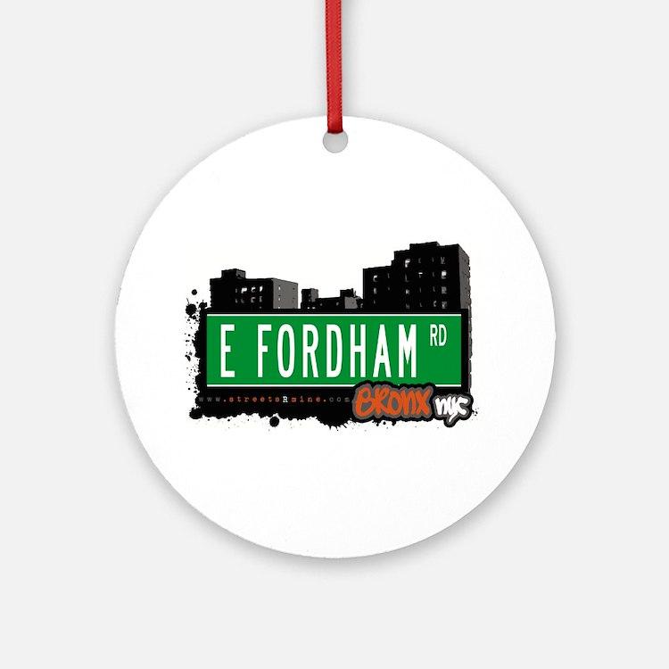 E Fordham Rd Ornament (Round)
