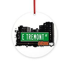 E Tremont Ave Ornament (Round)