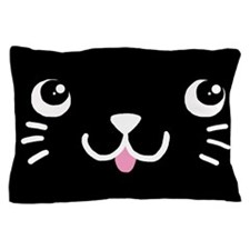 Black Kitty Face Pillow Case