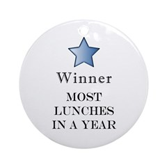Thee Free Lunch Award - Ornament (Round)
