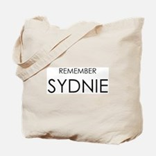Remember Sydnie Tote Bag