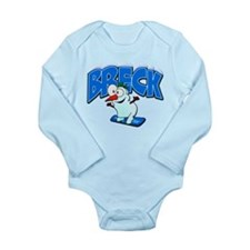Breckenridge Snowboarder.png Long Sleeve Infant Bo