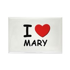 I love mary Rectangle Magnet