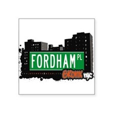 "Fordham Pl Square Sticker 3"" x 3"""