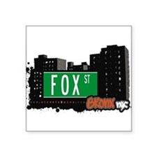 "Fox St Square Sticker 3"" x 3"""
