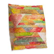 Crystal Colors Watercolor Burlap Throw Pillow