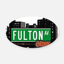 Fulton Ave Oval Car Magnet