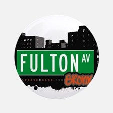 "Fulton Ave 3.5"" Button"