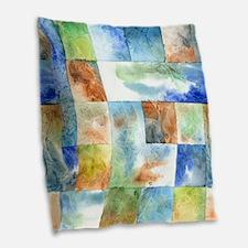 Slated Watercolor Burlap Throw Pillow