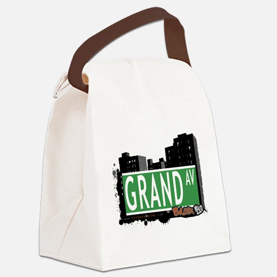 Grand Ave Canvas Lunch Bag