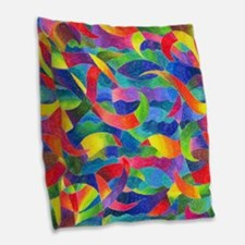 Cosmic Ribbons Burlap Throw Pillow
