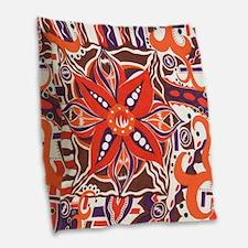 Poinsettia Power Burlap Throw Pillow