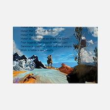 Honor Prayer Rectangle Magnet