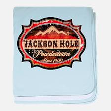 Jackson Hole Powdertown Rust.png baby blanket