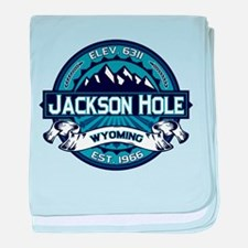 Jackson Hole Color Logo Ice.png baby blanket