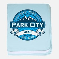 Park City Blue baby blanket