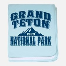 Grand Teton Old Style Blue.png baby blanket