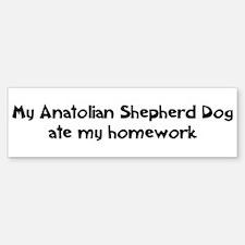 Anatolian Shepherd Dog ate my Bumper Bumper Bumper Sticker