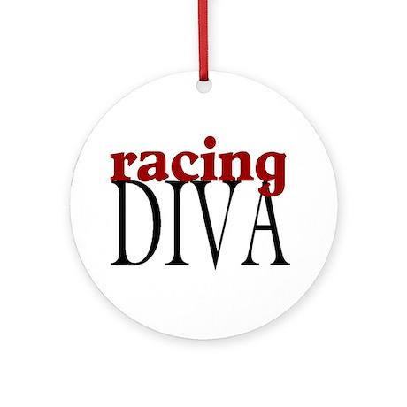 Racing Diva Ornament (Round)