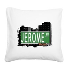 Jerome Ave Square Canvas Pillow