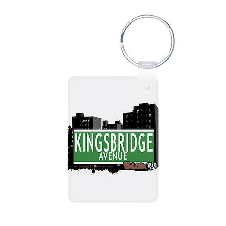 Kingsbridge Ave Aluminum Photo Keychain