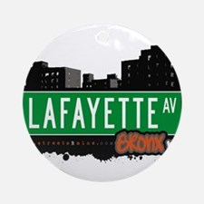Lafayette Ave Ornament (Round)