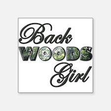 Back Woods Girl Sticker
