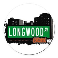 Longwood Ave Round Car Magnet