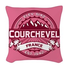 Courchevel Honeysuckle.png Woven Throw Pillow