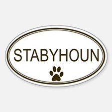 Oval Stabyhoun Oval Decal