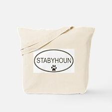 Oval Stabyhoun Tote Bag