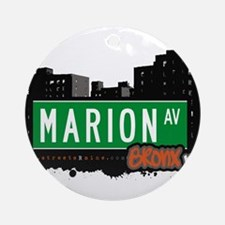 Marion Ave Ornament (Round)