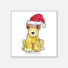 """Doodle Santa Hat Square Sticker 3"""" x 3"""""""